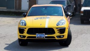 Porsche Macan 2016 - Vinyl Wrap Toronto - Full Car Wrap - Etobicoke - Front - Avery Dennison & 3M - Decals - Vehicle Wrap