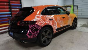 Porsche Macan 2016 - Vinyl Wrap Toronto - Full Car Wrap - Mississauga - Side Back - Decals - Vehicle Wrap - Avery Dennison - 3M