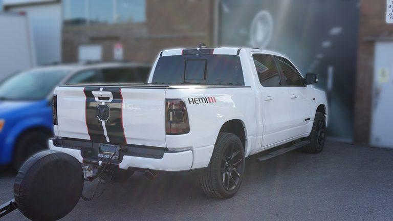RAM - 1500 - Hemi - Decals - Deluxe Auto - Lettering - Vinyl Wrap Toronto - Avery Dennison & 3M - Vehicle Wrap in Scarborough