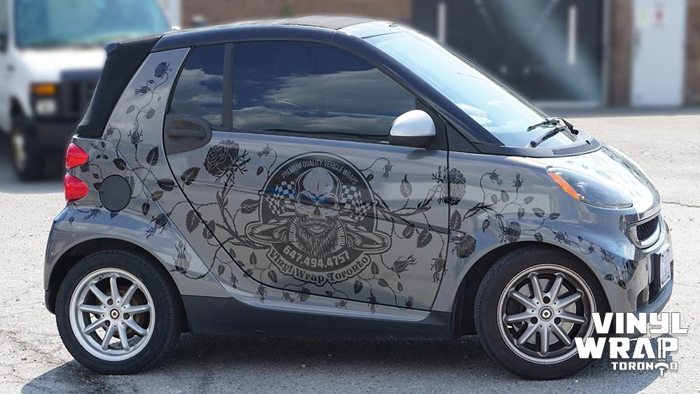 Smart Car - Fortwo - Cabriolet - 2008 - Custom Full Wrap - Vinyl Wrap Toronto - VinylWrapToronto.com - Side Full - Vehicle Wrap - Car Wrap in GTA