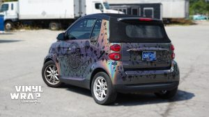 Smart Car Fortwo - Vinyl Wrap Toronto - Custom Full Wrap - VinylWrapToronto.com - 3M - After Back - Vehicle Wrap - Car Wrap in Mississauga