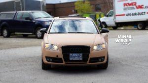 Audi A4 2006 - Full Car Wrap - VinylWrapToronto.com - Sand Vinyl Wrap Toronto - Vehicle Wrap - Front
