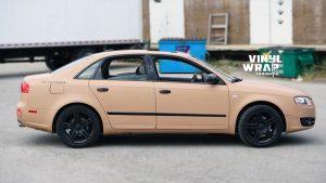 Audi A4 2006 - Full Car Wrap - VinylWrapToronto.com - Sand Vinyl Wrap Toronto - Vehicle Wrap - Side - Personal - GTA