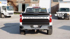 Chevrolet Silverado Z71 - Truck Decals - VinylWrapToronto.com - Vinyl Wrap Toronto - Vehicle Wrap - After - Back