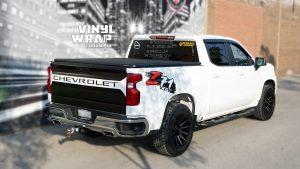 Chevrolet Silverado Z71 - Truck Decals - VinylWrapToronto.com - Vinyl Wrap Toronto - Vehicle Wrap in Mississauga - After - Side Back 2