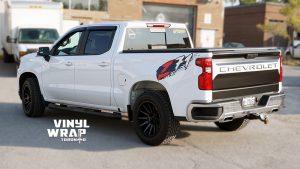 Chevrolet Silverado Z71 - Truck Decals - VinylWrapToronto.com - Vinyl Wrap Toronto - Vehicle Wrap in Etobicoke - After - Side Back