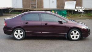 Honda Civic 2010 - Full Vinyl Wrap - After Side - Full Wrap