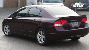 Honda Civic 2010 - Full Vinyl Wrap - After Back Side - Full Wrap