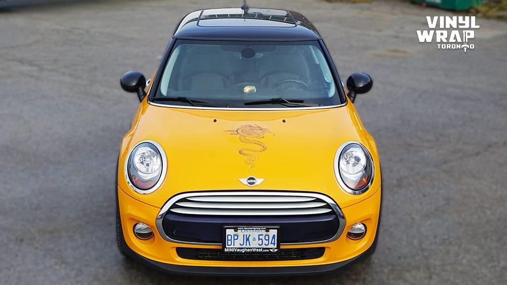 Mini Cooper Hardtop Decals - VinylWrapToronto.com - Vehicle Decals - Car Decals - Vinyl Wrap Toronto - Dragon