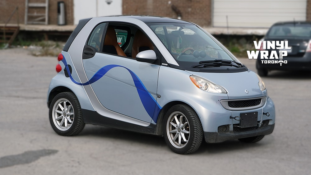 Smart Car ForTwo - 2008 - Vehicle Decals - Personal - After - Front Side