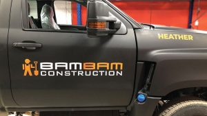 bambam Construction - Truck Decals - Truck Lettering in GTA - VinylWrapToronto.com - Vehicle Wrap in Toronto - Vinyl Wrap Toronto