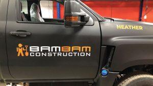 bambam Construction - Truck Decals - Truck Lettering in GTA - VinylWrapToronto.com - Vehicle Wrap in Toronto - Vinyl Wrap Toronto