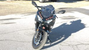Motorcycle Naruto Decals Kawasaki Ninja 400 - VinylWrapToronto.com - Vehicle Wrap in GTA - Avery Dennison - 3M - Front