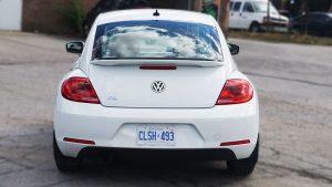 Volkswagen Beetle - Full Wrap - Personal - Disney - Cinderella Theme - Avery Dennison - Vinyl Wrap Toronto - Before Back