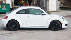 Volkswagen Beetle - Full Wrap - Personal - Disney - Cinderella Theme - Avery Dennison - Vinyl Wrap Toronto - Before Side