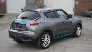 Nissan Juke 2016 - VinylWrapToronto.com - Vehicle Decals & Lettering - Best Vehicle Wrap in Toronto - 3M - Gloss Atomic Teal - Back Side