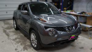 Nissan Juke 2016 - VinylWrapToronto.com - Vehicle Decals & Lettering - Best Vehicle Wrap in Toronto - 3M - Gloss Atomic Teal - Before