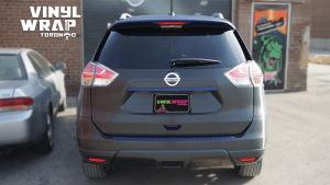 Nissan Rogue 2014 - Full Vinyl Wrap - Stripes - VinylWrapToronto.com - Best Vehicle Wrap in Toronto - After - Back