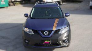 Nissan Rogue 2014 - Full Vinyl Wrap - Stripes - VinylWrapToronto.com - Best Vehicle Wrap in Toronto - Front