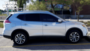 Nissan Rogue 2014 - Full Vinyl Wrap - Stripes - VinylWrapToronto.com - Best Vehicle Wrap in Toronto - Before