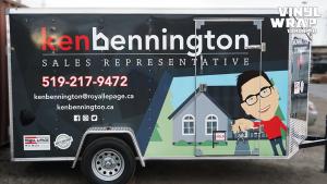 Trailer Full Wrap - VinylWrapToronto.com - Custom Design - Avery Dennison - Ken Bennington - Best Vehicle Wraps in Toronto - Side