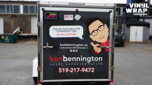Trailer Full Wrap - VinylWrapToronto.com - Custom Design - Avery Dennison - Ken Bennington - Best Vehicle Wraps in Toronto - Back - Real Estate