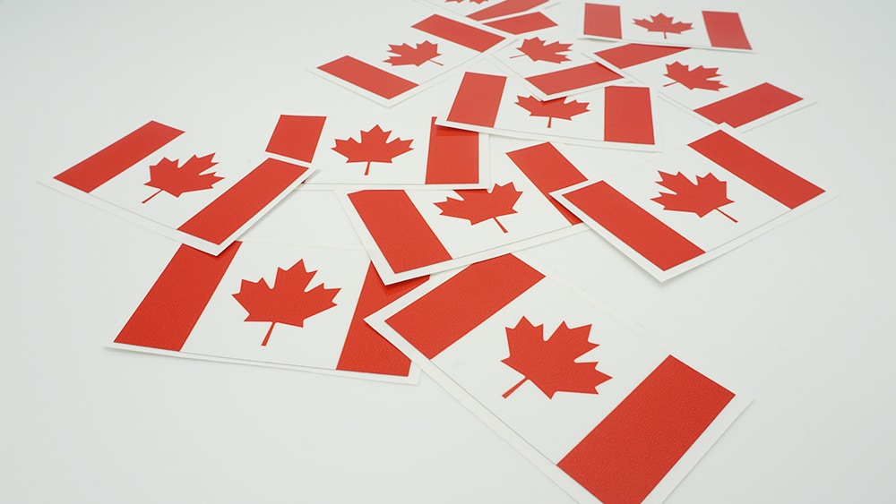The Canadian Flag Stickers - Vinyl Decals - VinylWrapToronto.com Free Stickers